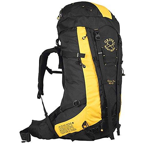 Grivel Alpine Pro 40+10 Gelb-Schwarz, Kletterrucksack und Seilsack, Größe 40+10l - Farbe Black - Yellow