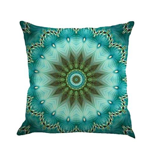 Vovotrade Mandala Imprimé Housse de Coussin lin Housse de Couette Ensemble Canapé Décoration d'intérieur Mode (A)