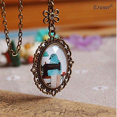 JYZHP - Collar con colgante de cabujón de cristal hecho a mano para mujer