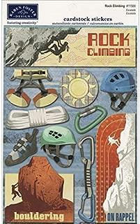 KAREN FOSTER Design Acid and Lignin Free Scrapbooking Sticker Sheet, Rock Climbing