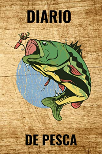 Diario de Pesca: Libro de Registro del Pescador - Cuaderno de Pesca Formato A5 - 54 Sesiones de Pesca - 110 Páginas