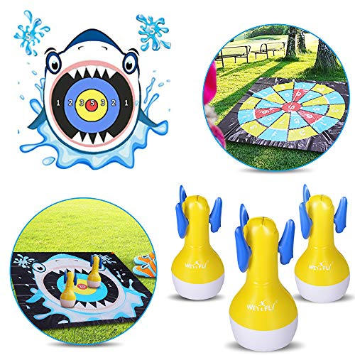 WEY&FLY Inflatable Darts Game, Indoor or Outdoor Games for Yard Games and Fun Family Games for Kids and Adults, Target Toys, Lawn Games of Lawn Darts, Floor Games, Indoor Activities