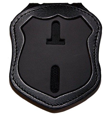 Perfect Fit Shield Wallets NYPD Patrol Officer Belt Clip Badge Holder with Pocket and Chain (Cutout PF145)