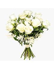 Ramos de rosas blancas naturales a domicilio Florencia - Flores frescas - Envío a domicilio 24h GRATIS - Tarjeta dedicatoria incluida - Caja especial para ramos de flores naturales.