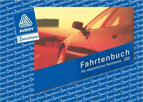 Avery Zweckform© 222 Fahrtenbuch, DIN A6 quer, steuerlicher km-Nachweis, 40 Blatt, weiá