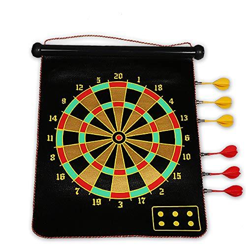 Dart-Brett-Set, 15In Doppelseitig Hängende Magnetismus-Dart-Brettchen Mit 6 Sicherheits-Darts Für Outdoor-Unterhaltung Und Familienfreizeit