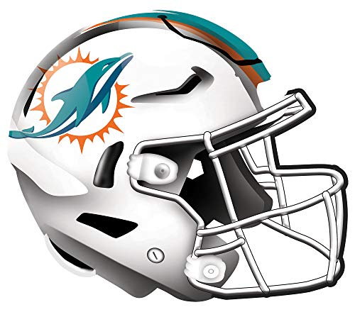 Fan Creations NFL Miami Dolphins Unisex Miami Dolphins Authentic Helmet, Team Color, 12 inch