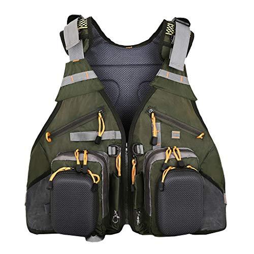 T TOOYFUL Atmungsaktiv Fliegenfischen Rucksack Mesh Weste Tasche Wandern Camping Bootfahren Pack