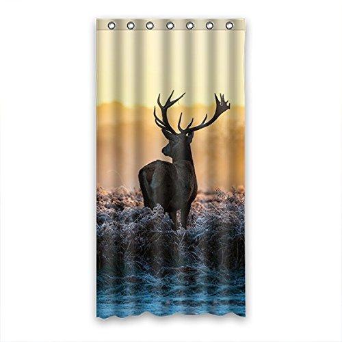 DOUBEE Hirsch Deer Wasserdicht Polyester Duschvorhänge Haltbarer Shower Curtain 90cm x 183cm Mit Haken