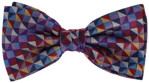 Knightsbridge Neckwear Multi-colour Squares Silk cravate de