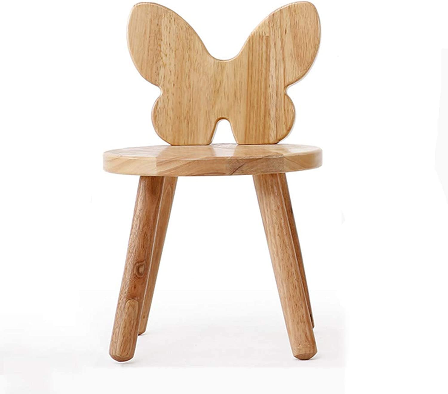 ZHAOYONGLI Stools Footstool Step Stools Work Stool Small Stool Solid Wood Back Chair Solid Wood Small Bench Home Cartoon Stool Creative Solid Durable Long Lasting (color   Butterfly)