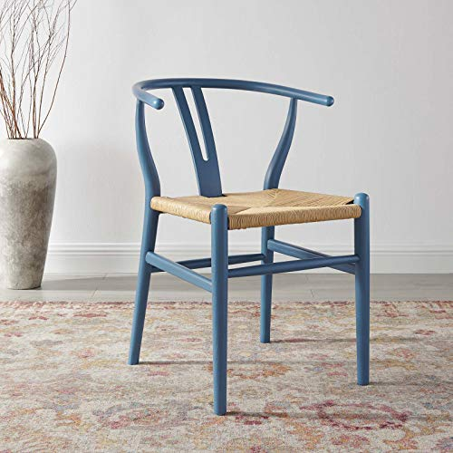 Modway Amish Dining Wood Side Chair, Harbor