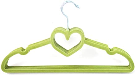 JunbosiHanger Flocking Hanger Creative Love Hanger 42Cm Non-Slip Magic Plastic Hanger Multicolor Group Green