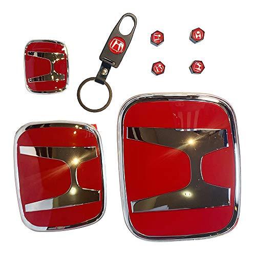 Dirección 1 Set H Rojo Emblema Delantero Posterior Compatible para 2016-20 Honda Civic Hatch