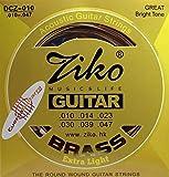 2 Juegos de cuerdas ZIKO DCZ-010 para Guitarra Acústica Bronce 80/20 calibre...