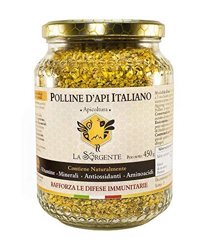 Polline d'api Italiano 450 g - Dalle colline Marchigiane - La migliore fonte vegetale di Proteine ed Aminoacidi.