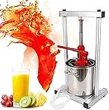12L Fruit Press Larger 304 Stainless Steel Pressing Plate Fruit Crusher for Wine, Cider,Grape,Apple Press, For Apple Cider, Wine and Juice Making (Upgraded Version)