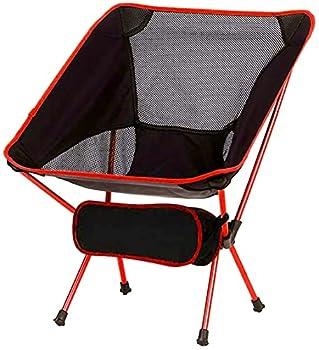 Queta Chaise de Camping Pliable, Chaise de pêche Pliante de Support en Alliage d'aluminium avec Sac de Transport, Ultra-légère Durable Convient pour Barbecue/Randonnée/Pique-Nique/Pêche/Plage/Jardin