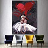 KWzEQ Leinwanddrucke Berühmte Schauspielerin Wandkunst