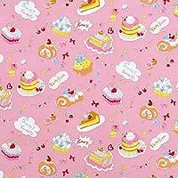 KOKKA シーチング 生地 スイート スイーツ 50cm単位販売 綿 布 (ピンク)