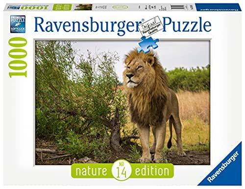 Ravensburger Puzzle, Puzzle 1000 Pezzi, Leone in Africa, Puzzle per Adulti, Nature Edition, Puzzle Paesaggi, Puzzle Ravensburger - Stampa di Alta Qualità