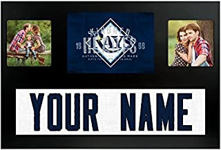 Tampa Bay Rays MLB Custom Jersey Nameplate and Logo Picture Frame