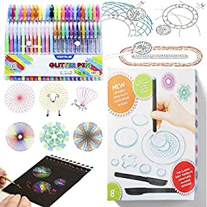 THE KIDS' ARTISTIC ENLIGHTENMENT: Let kids design their own patterns to foster kids' perception of beauty. MOTIVATE THE CHILD'S INTELLIGENCE: Drawing Gear is the perfect combination of art and geometry. There are regular geometric formulas hidden und...