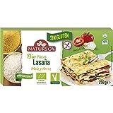 Pasta precocida de lasaña de arroz y maíz Sin gluten 250g, Natursoy