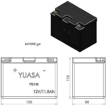 Yuasa Motorrad Akku Ytz14s Gel Hochleistung 12 V 12 Ah Auto