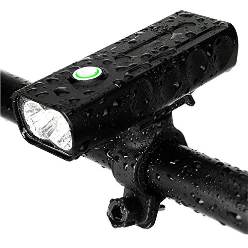 N / A Multifunctional Bike Front Light Aluminum Alloy, 3 Modes Super Bright 360 Degree Rotating Bracket, Rechargeable Battery One-Touch Installation
