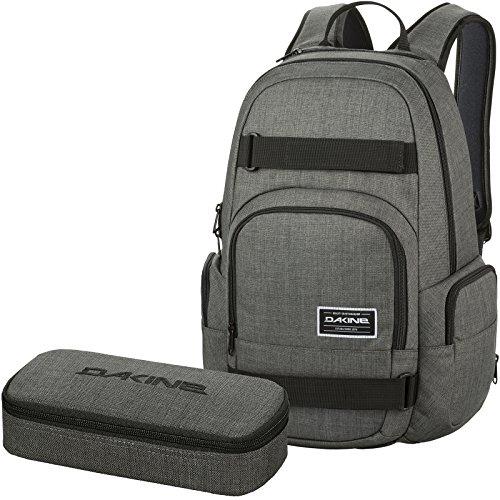 DAKINE 2er Set Laptop Rucksack Schulrucksack 25l Atlas + School CASE XL Mäppchen Carbon