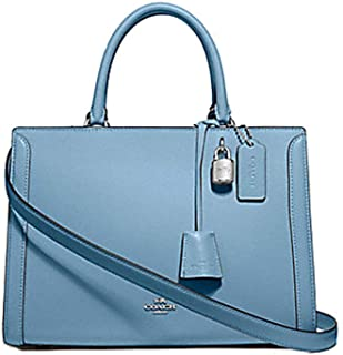 Coach Zoe Leather Carryall Purse - #F49500 - Cornflower Blue