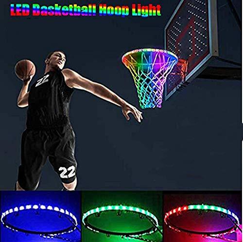 Sweetlibra Solar Led Basketballkorb Licht Wasserdichte Basketball Rahmen Licht Led Basketball Felge Wasserdichte Leuchtende Licht Solar Farbwechsel Leuchtend - Leuchten Basketballkorb,7 Moduswechsel
