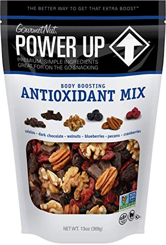 Power Up Trail Mix, Antioxidant Trail Mix, Non-GMO, Vegan, Gluten Free, No Artificial Ingredients, Gourmet Nut, 13 Ounce Bag
