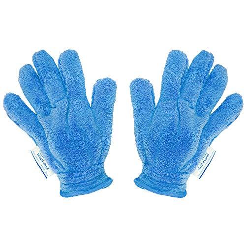 Soft Hand Staubtuch | Staub putzen leicht gemacht | Reinigungstuch Putztuch | verhindert Aufladen der entstaubten elektrischen Geräte| schnelle Reinigung | Das Blaue Wunder (2er Set, Blau)