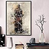 zzzddd Leinwand Bild,Japan Anime Poster Und Drucke Gepanzerten Samurai Poster Wand Kunst Bild Leinwand Gemälde Für Zimmer Home Decor, 70 * 100 cm