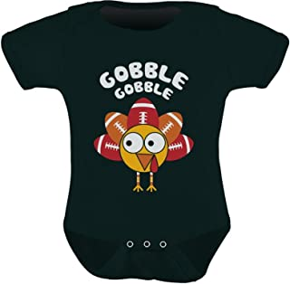 Thanksgiving Baby Outfit Gobble Turkey Football Holiday Cute Baby Bodysuit