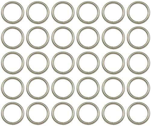 Anillos de metal soldados – 50 mm – Acero niquelado – Embalaje de 1 a 50 piezas – (1 pieza)