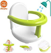 Airphe Multi-Function Baby Anti-Skid Safety Seat Foldable Baby Bath Seat Baby Bathtub Seat for Sit Up Bath Dining Feeding Learning
