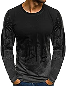 JiaMeng Suéter de Hombre Invierno Manga Larga Suéter Casual Jersey de Punto Caliente Camiseta Blusa básica de Manga Larga con Cuello Redondo (Gris,XL)