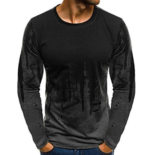 JiaMeng Suéter de Hombre Invierno Manga Larga Suéter Casual Jersey de Punto Caliente Camiseta Blusa básica de Manga Larga con Cuello Redondo (Gris,XXXL)