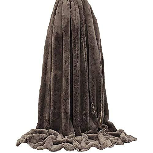 Paoletti Empress Throw 140X200 Taupe, Polyester, 140x200cm
