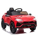 HOMCOM Kinderfahrzeug Elektroauto Sicherheitsgurt Fernbedienung MP3 3–5 Jahre PP Rot 105 x 65 x 52 cm