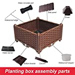 Hershii Square Deepened Garden Raised Bed Kits Plastic Plant Containers Indoor Outdoor Vegetables Herbs Flowers Growing Planter Box - Black - 15.35 X 15.35 X 14.96 Inches 11 MULTIFUNCTIONAL: This planter box can easily be converted to indoor or outdoor use, space saving design, great for vegetables, herbs, plants, succulents and flowers growing. A great raised bed for all enthusiastic garden lovers. Perfect for planting in the balcony, terrace, garden, backyard, patios, meadow or the corners in your living room. DURABLE & MOISTURE MAINTAINENCE: Made of PP material, sturdy and weather-resistant. It's enough to strongly support the weight from the garden bed itself and plant. Water barrier & bottom board design, filtering excess water from the soil and store it in the bottom boards.It can kindly keep and maintain moisture for plant inside. ATTRACTIVE APPEARANCE: Great gifts for families, parents, friends, enjoy the joy of pastoral life. For families with children, you can grow vegetables, plants, flowers, herbs on the balcony, let the children know the nature and cultivate children's Hands-on ability, responsibility and love. Eating vegetables grown by yourself is also very healthy.