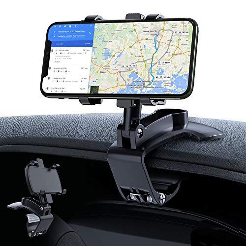 車載ホルダー GESMA スマホホルダー 360度回転 スマホ車載ホルダー クリップ式 車 携帯ホルダー スマホスタンド iphone 車載ホルダー 自由調節 カーマウント 着脱簡単 取り付け簡単 iPhone/Android/Huawei/Sony/Sa