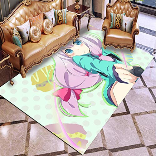 Haiqings Ero Manga-Sensei Masamune Izumi Alfombra de Piso Grande Felpudo Alfombra Sala de Estar Alfombra Antideslizante alfombras de Juego de Anime 200x300cm