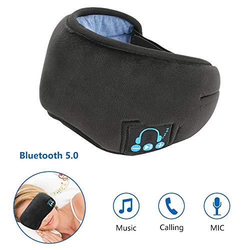Bluetooth Schlafmaske Achort Schlafkopfhörer Bluetooth Musik Augenmaske für kühle/warme Therapie Hands-Free Schlafkopfhörer Nachtmaske integrierter Lautsprecher Mikrofon