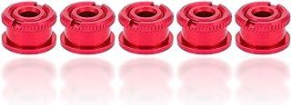 5 x paar bouten en moeren, aluminium anti-roest fiets crankbouten, voor weg MTB-fiets enkele tandheelkundige plaat rood
