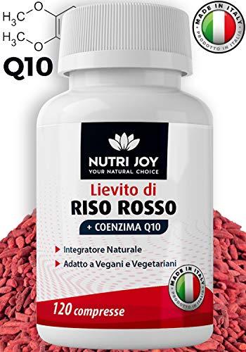 [ 120 COMPRESSE ] Riso Rosso Fermentato [ 667MG ] Coenzima Q10   Made in Italy   Integratore Naturale con Monacolina K [ 10MG ] e Monascus Purpureus Lievito di Riso Rosso