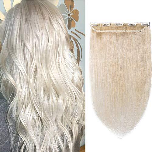 Silk-co Une Pièce Extension A Clip Cheveux Humain Naturel Rajout Cheveux Lisse 100% Remy Human Hair One Piece Clip In Extension [12\